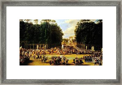 The Entry Of Napoleon And Marie-louise Framed Print by Celestial Images