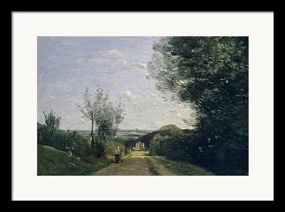 Old Roadway Paintings Framed Prints