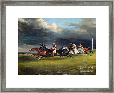 The Epsom Derby Framed Print by Theodore Gericault