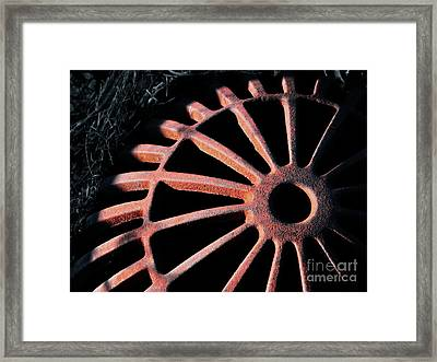 The Erosion Of Time Framed Print