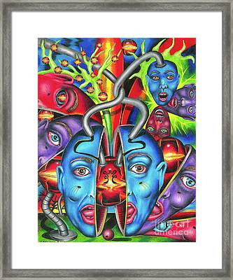 The Esoteric Force Of Molecular Mentality Framed Print