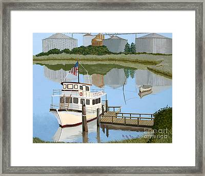The Essence Of Tappahannock Framed Print by Jennifer  Donald
