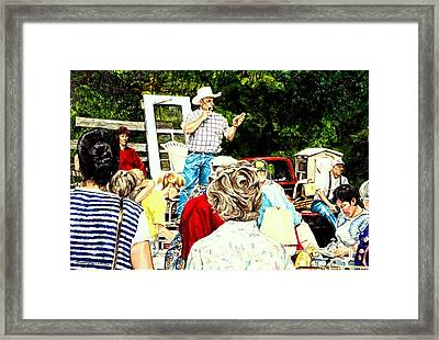 The Estate Auction Framed Print by Thomas Akers