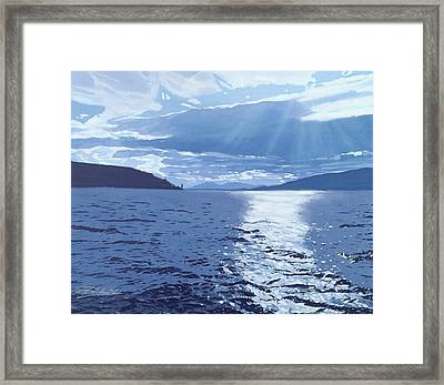 The Estuary Framed Print by Malcolm Warrilow