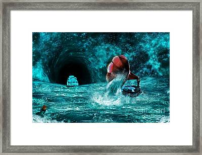 Framed Print featuring the digital art The Eternal Ballad Of The Sea by Olga Hamilton