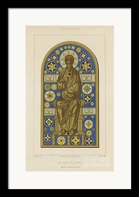 Holy Trinity Icon Drawings Framed Prints