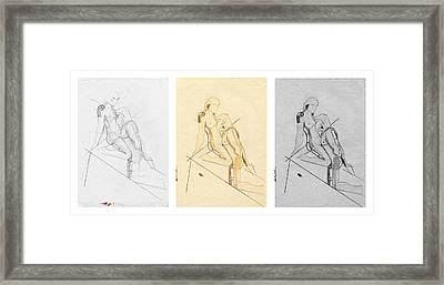 The Eternal Idol - Triptych - Homage Rodin Framed Print