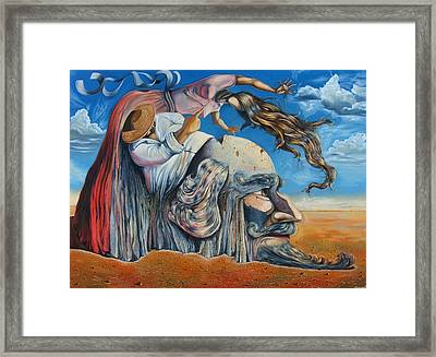 The Eternal Obsession Of Don Quijote Framed Print by Darwin Leon
