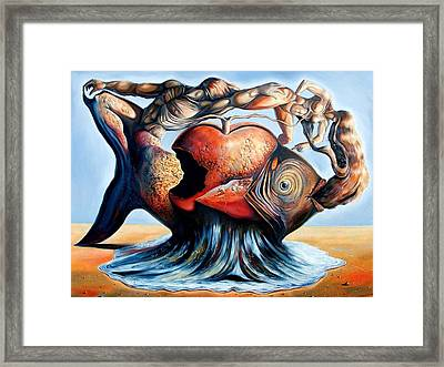 The Eternal Question Of Time Framed Print by Darwin Leon