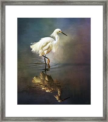 The Ethereal Egret Framed Print