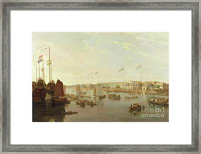 The European Factories - Canton Framed Print by William Daniell