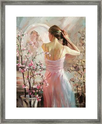 Framed Print featuring the painting The Evening Ahead by Steve Henderson