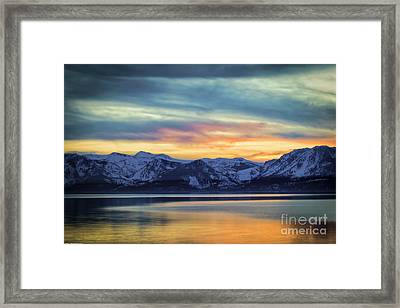 The Evening Colors Framed Print