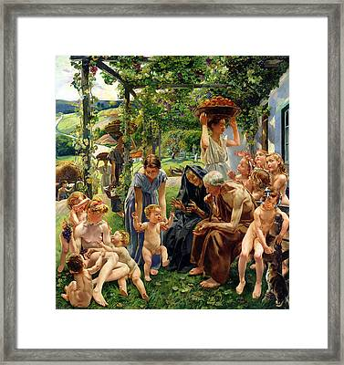 The Evening Framed Print by Leon Henri Marie Frederic