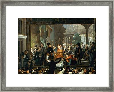 The Evening Performance Framed Print