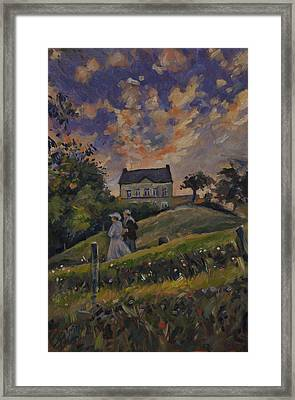 The Evening Stroll Around The Hoeve Zonneberg Framed Print by Nop Briex