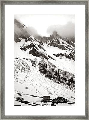 The Ever Overwhelming Mountain Framed Print by Olivier Le Queinec
