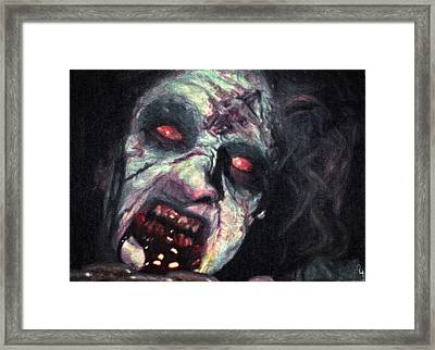 The Evil Dead Framed Print by Taylan Apukovska