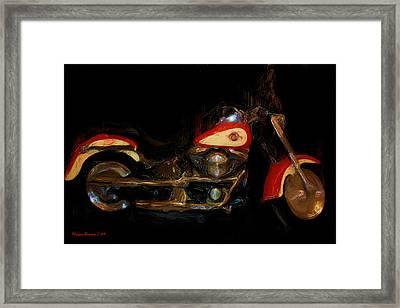 The Evo Fatboy Framed Print by Wayne Bonney