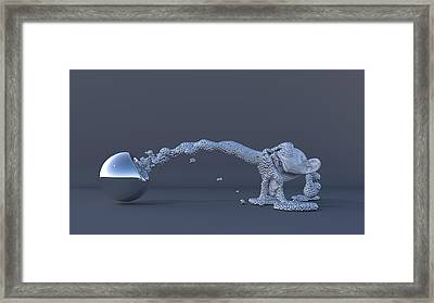 The Evolution Of Man Framed Print