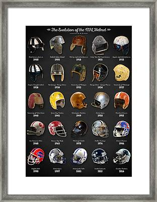 The Evolution Of The Nfl Helmet Framed Print