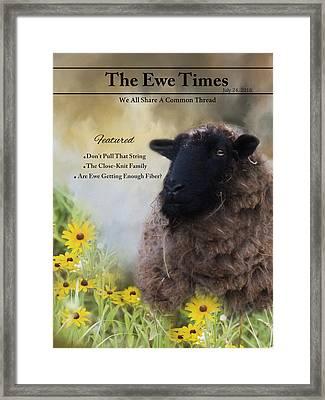 The Ewetimes Framed Print by Robin-Lee Vieira