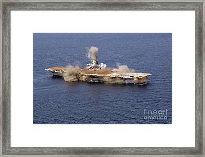 The Ex-oriskany, A Decommissioned Framed Print by Stocktrek Images