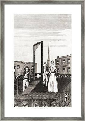 The Execution Of Charlotte Corday Framed Print