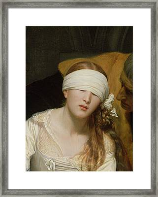 The Execution Of Lady Jane Grey Framed Print