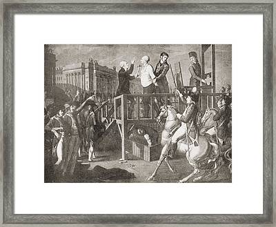 The Execution Of Louis Xvi, 21 January Framed Print by Vintage Design Pics