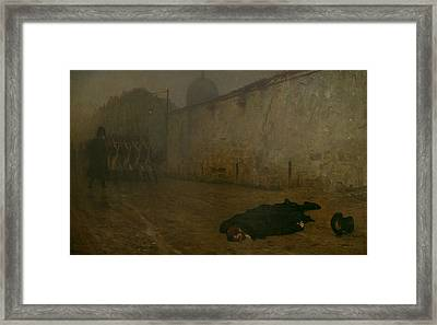 The Execution Of Marshal Ney Framed Print