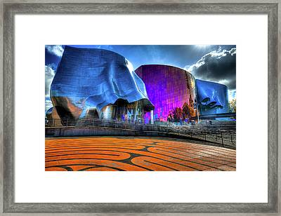The Experience Music Project Framed Print by David Patterson