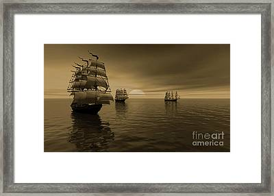 The Explorer Night Voyage Framed Print