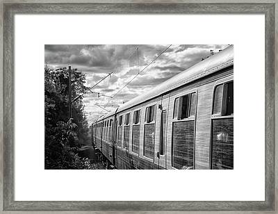 The Express Bw Framed Print