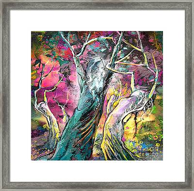 The Expulsion From Paradise Framed Print by Miki De Goodaboom