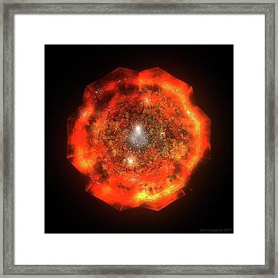 The Eye Of Cyma - Fire And Ice - Frame 146 Framed Print