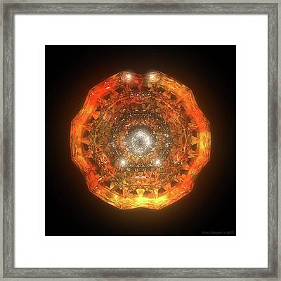 The Eye Of Cyma - Fire And Ice - Frame 160 Framed Print