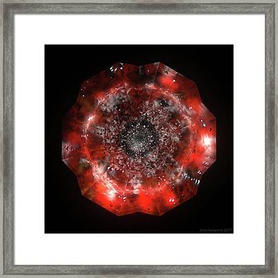 The Eye Of Cyma - Fire And Ice - Frame 49 Framed Print