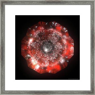 The Eye Of Cyma - Fire And Ice - Frame 50 Framed Print