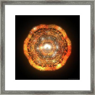 The Eye Of Cyma - Fire And Ice - Frame 7 Framed Print