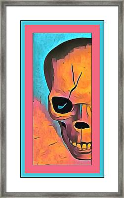 Framed Print featuring the digital art The Eye Of Death Abstract Skull by Floyd Snyder