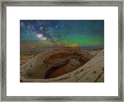 The Eye Of Earth Framed Print