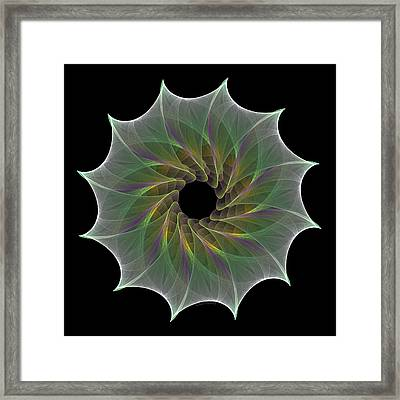 Framed Print featuring the digital art The Eye Of God by Denise Beverly
