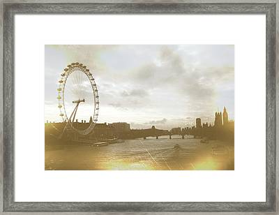 The Eye Of London Art Framed Print by JAMART Photography