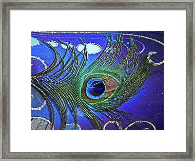 The Eye Of The Peacock Framed Print