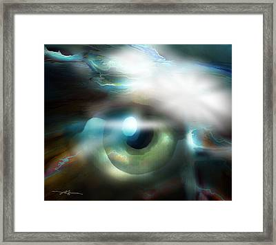 The Eye Of The Storm Framed Print by Bob Salo