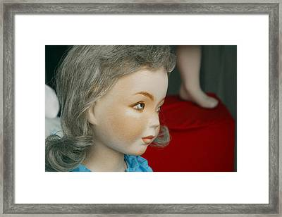 The Eyebrows Say It Framed Print by Jez C Self