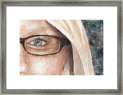 The Eyes Have It - Dustie Framed Print by Sam Sidders