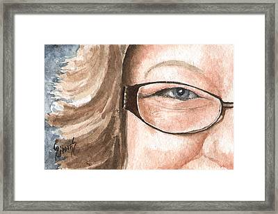 The Eyes Have It - Emma Framed Print
