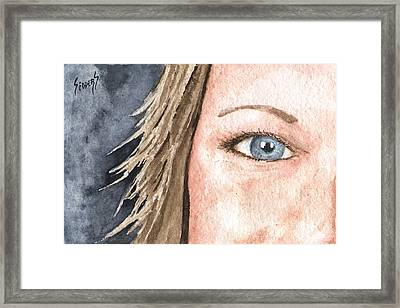 The Eyes Have It - Jill Framed Print by Sam Sidders